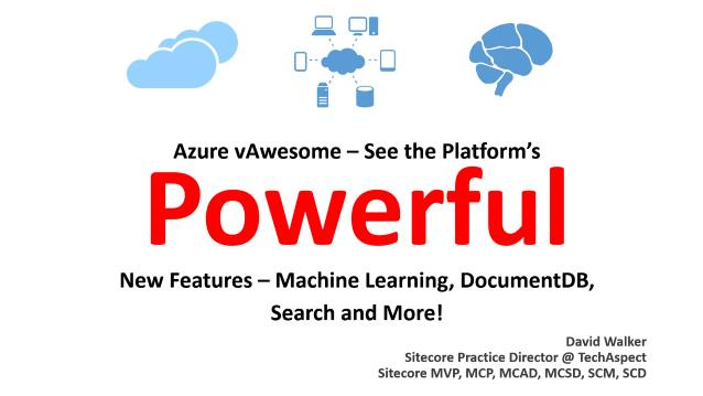Azure vAwesome/Machine Learning - TechAspect - Internal Training - 05/15/2015