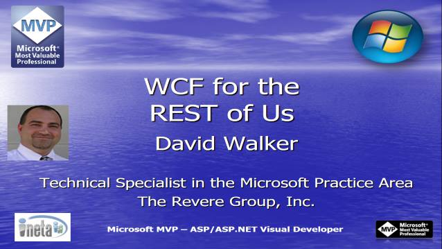 WCF For The REST of Us - Houston TechFest 2008 - 08/22/2008